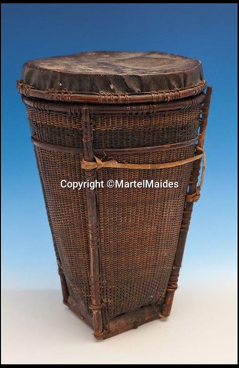 BNPS.co.uk (01202) 558833<br /> Picture: MartelMaides/BNPS<br /> <br /> ****Must use full byline****<br /> <br /> A tribal basket estimated to fetch &pound;140.<br /> <br /> A British man who was gifted a set of cannibal forks used by tribesmen to eat rival warriors is selling the macabre collection.<br /> <br /> The elderly collector ingratiated himself with a local tribal community while on his travels to the Pacific islands 70 years ago.<br /> <br /> As a token of their hospitality, the natives gave the unnamed all manner of gifts dating back to the 19th century.<br /> <br /> They included three girsly wooden forks tribal chiefs would have used to devour the bodies of their enemies.
