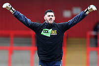 Tom King of Stevenage with Kick It Out t-shirt during Stevenage vs Crewe Alexandra, Sky Bet EFL League 2 Football at the Lamex Stadium on 10th March 2018