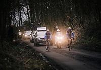 race leaders Niki Terpstra (NED/Quick-Step Floors) &amp; Yves Lampaert (BEL/Quick Step Floors) up the Karnemelkbeekstraat<br /> <br /> 61th E3 Harelbeke (1.UWT)<br /> Harelbeke - Harelbeke (206km)