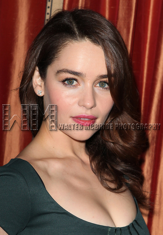 Emilia Clarke attending the Meet & Greet the Company of 'Breakfast At Tiffany's'  at The Carlyle Hotel Royal Suite in New York City on 2/27/2013