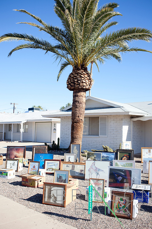 A yard sale at 12213 105th Avenue in Sun City, Arizona January 9, 2010.