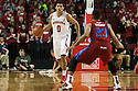 November 17, 2013: Tai Webster (0) of the Nebraska Cornhuskers brings the ball down court against Darrion Eastmon (23) of the South Carolina State Bulldogs at the Pinnacle Bank Areana, Lincoln, NE. Nebraska defeated South Carolina State 83 to 57.