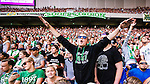 Stockholm 2014-08-10 Fotboll Superettan Hammarby IF - GIF Sundsvall :  <br /> Hammarbys supportrar <br /> (Foto: Kenta J&ouml;nsson) Nyckelord:  Superettan Tele2 Arena Hammarby HIF Bajen GIF Sundsvall supporter fans publik supporters
