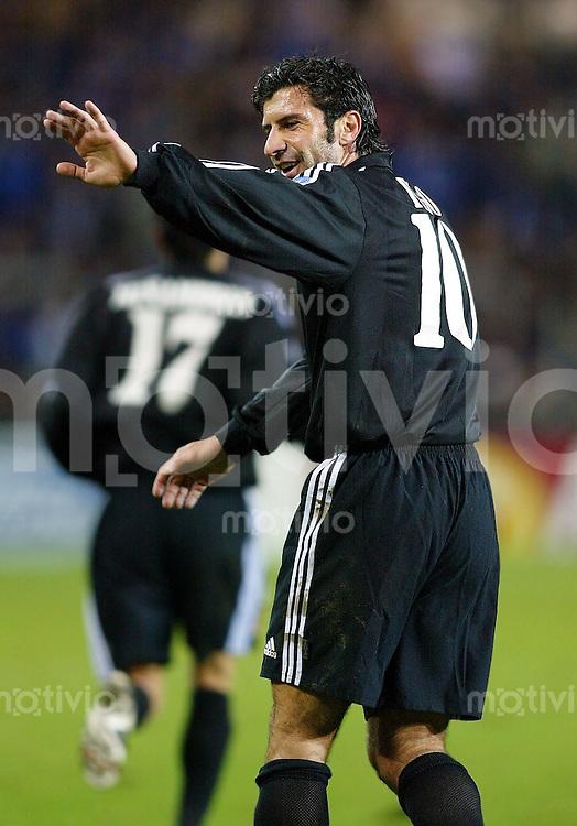 Fussball / Champions League Saison 2002/2003  Luis Figo Real Madrid