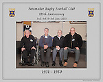 1930 to 1950 Patumahoe Rugby Club 125th Anniversary group photo, June 4th 2011.