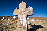 Historic early 1900s cemetery in the ghost town of Goldfield, Nev.