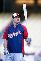 Ryan Zimmerman #11 of the Washington Nationals before a game against the Los Angeles Dodgers at Dodger Stadium on May 13, 2013 in Los Angeles, California. (Larry Goren/Four Seam Images)