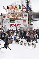 Eric Rogers Willow restart Iditarod 2008.