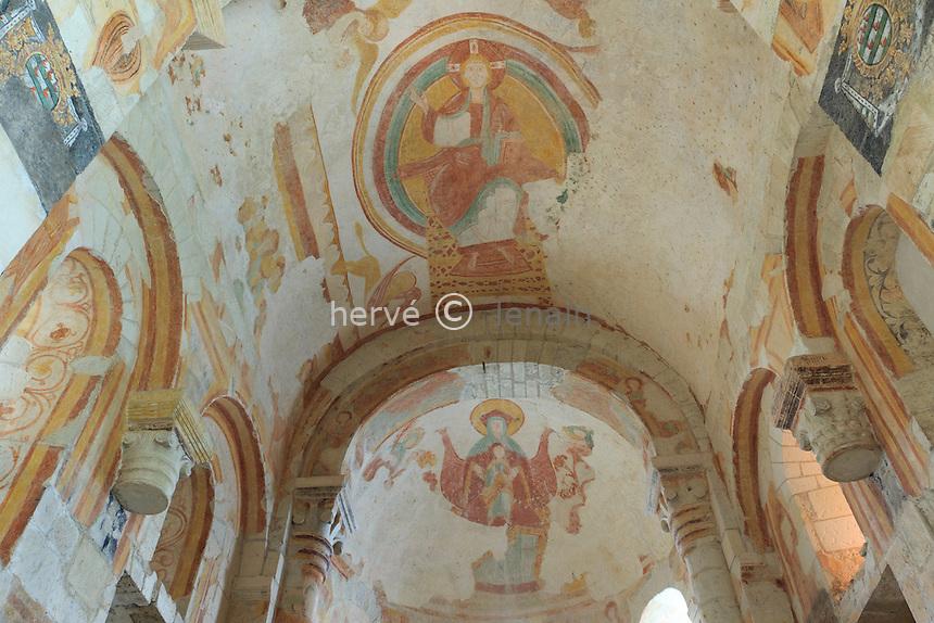 France, Indre (36), Palluau-sur-Indre, le prieuré Saint-Laurent, les fresques // France, Indre, Palluau sur Indre, the priory of Saint-Laurent, frescoes