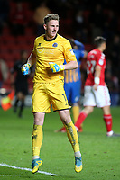 Shrewsbury Town's goalkeeper, Dean Henderson celebrates at the final whistle during Charlton Athletic vs Shrewsbury Town, Sky Bet EFL League 1 Play-Off Football at The Valley on 10th May 2018