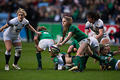 16th March 2018, Ricoh Arena, Coventry, England; Womens Six Nations Rugby, England Women versus Ireland Women; Nicole Cronin of Ireland clears the ball