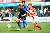 ASSEN - Voetbal, ACV - Harkemase Boys, Derde Divisie, seizoen 2017-2018, 09-09-2017,  ACV speler Pacal Huser in duel met Bart de Groot