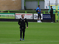 MK Dons Manager, Robbie Neilson, has a quick look at the pitch prior to kick-off during Forest Green Rovers vs MK Dons, Caraboa Cup Football at The New Lawn on 8th August 2017