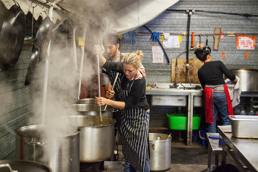 "Help Refugeess UK Volunteers cooking and preparing food for the refugees at ""The Jungle"" refugee camp in Calais. Help Refugees has grown out of #helpcalais, a social media campaign started by Lliana Bird (Radio X DJ), Dawn O'Porter (Writer and Presenter), Josie Naughton and Heydon Prowse (The Revolution will be Televised) to raise a few funds and collect goods to take to Calais to help in some small way. The public response to the campaign was huge, and we were quickly able to provide aid in Calais and far beyond."