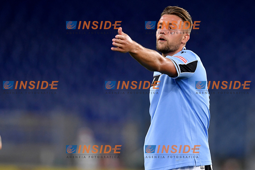 Sergej Milinkovic-Savic of SS Lazio reacts during the Serie A football match between SS Lazio and ACF Fiorentina at stadio Olimpico in Roma ( Italy ), June 27th, 2020. Play resumes behind closed doors following the outbreak of the coronavirus disease. Photo Antonietta Baldassarre / Insidefoto