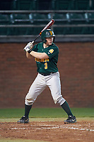 Siena Saints catcher Phil Madonna (3) at bat during a game against the Stetson Hatters on February 23, 2016 at Melching Field at Conrad Park in DeLand, Florida.  Stetson defeated Siena 5-3.  (Mike Janes/Four Seam Images)