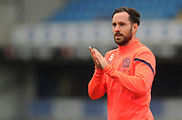 Blackburn Rovers' Greg Cunningham during the pre-match warm-up <br /> <br /> Photographer Kevin Barnes/CameraSport<br /> <br /> The EFL Sky Bet Championship - Blackburn Rovers v Luton Town - Saturday 28th September 2019 - Ewood Park - Blackburn<br /> <br /> World Copyright © 2019 CameraSport. All rights reserved. 43 Linden Ave. Countesthorpe. Leicester. England. LE8 5PG - Tel: +44 (0) 116 277 4147 - admin@camerasport.com - www.camerasport.com