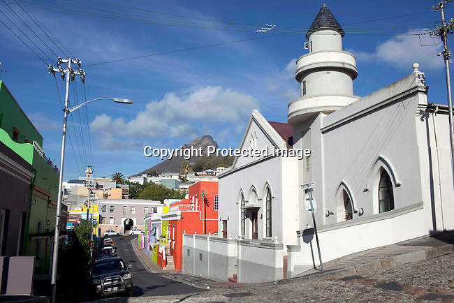 CAPE TOWN, SOUTH AFRICA - MARCH 21: Residential areas in the Bo-Kaap area on March 21, 2012 in Cape Town, South Africa (Photo by Per-Anders Pettersson For Le Monde)