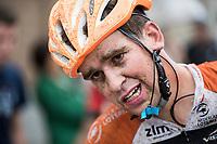 Taco van der Hoorn (NED/Roompot-Nederlandse Loterij) post-race<br /> <br /> Dwars door het Hageland (1.1)<br /> 1 Day Race: Aarschot &gt; Diest (194km)