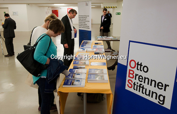 Brussels-Belgium - April 02, 2014 -- ' Creating a social Europe ' - European Dialogue 2014 jointly organized by  Hans Böckler Stiftung, Otto Brenner Institut, Friedrich Ebert Stiftung (FES), European Trade Union Institute (ETUI), in cooperation with European Trade Union Confederation (ETUC) and Deutscher Gewerkschaftsbund (DGB); here, lay-outs and information desks of participating organisations -- Photo: © HorstWagner.eu