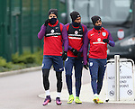 England's Kyle Walker, Daniel Sturridge and Danny Rose look on during training at Tottenham Hotspur training centre, London. Picture date November 14th, 2016 Pic David Klein/Sportimage