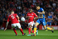 Ben Godrey of Shrewsbury Town bursts through the Charlton Athletic defence during Charlton Athletic vs Shrewsbury Town, Sky Bet EFL League 1 Play-Off Football at The Valley on 10th May 2018