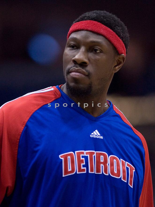 Ben Wallace..Milwaukee Bucks lost to the Detroit Pistons 81-93.