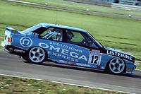 Final round of the 1991 British Touring Car Championship. #12 Ray Bellm (GB). BMW Team Listerine. BMW M3.