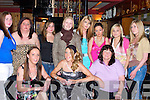 BIRTHDAY; Bridget Coffey, Tralee who celebrated her 27th Birthday with family and friends in La Scala, Restaurant, The Square, Tralee on Tuesday night.Front l-r: Helen, Bridget(birthday lady) and Nora Coffey.Back l-r: Megan Lynch,Siobhan Fitzgerald, Simmone Golden,Rachel Smith,Lynda and Breda Coffey,Leanne O'Shea and Grace Fitzmaurice......HOME: Daniel Moriarty,Jessica O'Shea and Allen Wall- Griffin, on their way home after their first day at Moyderwell Primary School, Tralee on Monday......,on Friday. ........ ...... ..DANCING: Denise McEvoy Tralee who danced the night away at her 30th Birthday Party in the KOR GAA & Hurling Club, Strand Road, Tralee(Denise is seated centre). .... ..   Copyright Kerry's Eye 2008