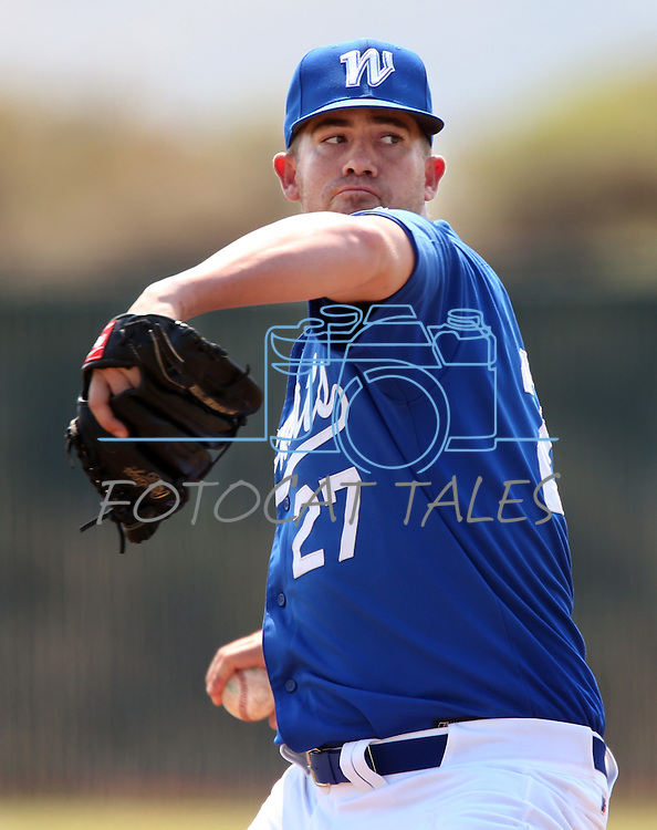 Former Wildcat David Carroll pitches in the alumni game at Western Nevada College in Carson City, Nev., on Saturday, Sept. 7, 2013.  <br /> Photo by Cathleen Allison
