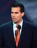 New York, NY - August 31, 2004 --   George P. Bush, son of Florida Governor Jeb Bush and his wife, Columba, speaks at the 2004 Republican Convention in Madison Square Garden in New York, New York on Tuesday, August 31, 2004..Credit: Ron Sachs / CNP.(RESTRICTION: No New York Metro or other Newspapers within a 75 mile radius of New York City)