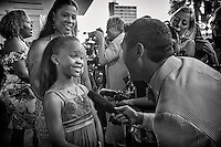 Actress Quvenzhane Wallis being interviewed on the red carpet at the New Orleans premiere of 'Beasts of the Southern Wild' at the Joy Theatre on 25 June 2012 in New Orleans, Louisiana, USA. Congratulations to Quvenzhane Wallis of Houma for her 'Best Actress' nomination for 'Beasts of the Southern Wild', filmed right here in the great state of Louisiana! Quvenzhane is the youngest person ever nominated for a Best Actress Oscar, and we know she'll be representing Louisiana well on 24 February 2013 at the 85th annual Academy Awards.