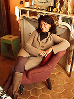 Interior designer Marjolaine Leray at home in her chateau in the South of France
