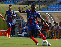 SANTA MARTA - COLOMBIA, 19-07-2019: Unión Magdalena y Atlético Huila en partido por la fecha 2, cuadrangulares semifinales, de la Liga Águila II 2019 jugado en el estadio Sierra Nevada de la ciudad de Santa Marta. / Union Magdalena and Atletico Huila in match for the date 5 of the semifinal quadrangular as part Aguila League II 2019 played at Sierra Nevada stadium in Santa Marta city. Photo: VizzorImage / Gustavo Pacheco / Cont