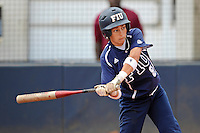 11 February 2012:  FIU's Jessy Alfonso (8) bats as the University of Louisville Cardinals defeated the FIU Golden Panthers, 4-2, as part of the COMBAT Classic at the FIU Softball Complex in Miami, Florida.