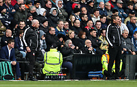 Bolton Wanderers' assistant manager Steve Parkin and manager Phil Parkinson <br /> <br /> Photographer Andrew Kearns/CameraSport<br /> <br /> The EFL Sky Bet Championship - Derby County v Bolton Wanderers - Saturday 13th April 2019 - Pride Park - Derby<br /> <br /> World Copyright &copy; 2019 CameraSport. All rights reserved. 43 Linden Ave. Countesthorpe. Leicester. England. LE8 5PG - Tel: +44 (0) 116 277 4147 - admin@camerasport.com - www.camerasport.com