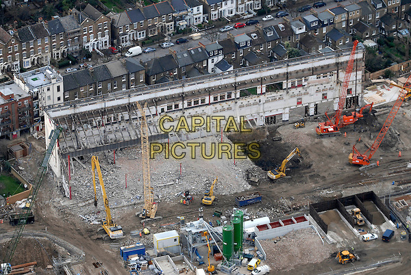 A DEMOLISHED HIGHBURY STADIUM.An aerial view, London, UK..January 23rd, 2007.gv site building scaffolding general view.CAP/FIN.©Steve Finn/Capital Pictures