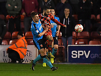 Fleetwood Town's Cameron Brannagan battles for the ball<br /> <br /> Photographer Dave Howarth/CameraSport<br /> <br /> The EFL Sky Bet League One - Walsall v Fleetwood Town - Tuesday 14th March 2017 - Banks's Stadium - Walsall<br /> <br /> World Copyright &copy; 2017 CameraSport. All rights reserved. 43 Linden Ave. Countesthorpe. Leicester. England. LE8 5PG - Tel: +44 (0) 116 277 4147 - admin@camerasport.com - www.camerasport.com