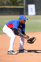 Estarling Santiago participates in the International Prospect League Showcase at the New York Yankees academy in Boca Chica, Dominican Republic on January 24, 2014 (Bill Mitchell)