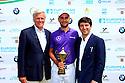 Moritz Lampert (GER) with Alain de Soultrait and Anar Mammadov, European Challenge Tour, Azerbaijan Golf Challenge Open 2014, Azerbaijan National Golf Club, Quba, Azerbaijan. (Picture Credit / Phil Inglis)
