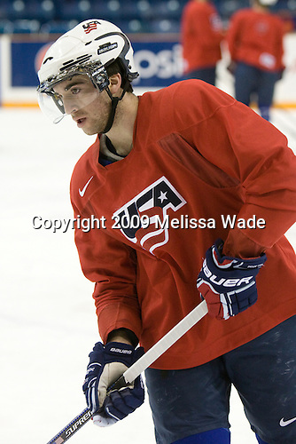Kyle Palmieri (USA - 23) - Team USA practices the morning of Thursday, December 31, 2009, at the Credit Union Centre in Saskatoon, Saskatchewan, during the 2010 World Juniors tournament.