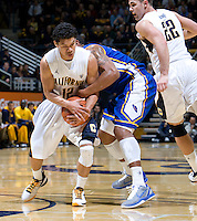 Brandon Smith of California controls the ball away from UCSB player during the game against UCSB Gauchos at Haas Pavilion in Berkeley, California on December 19th, 2011.   California defeated UC Santa Barbara, 7-50.