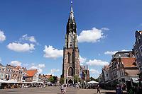 Nederland Delft - 2018. De Nieuwe Kerk op de Markt. Foto Berlinda van Dam / Hollandse Hoogte