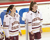 Haley Skarupa (BC - 22), Lexi Bender (BC - 21) - The Boston College Eagles defeated the visiting Providence College Friars 7-1 on Friday, February 19, 2016, at Kelley Rink in Conte Forum in Boston, Massachusetts.