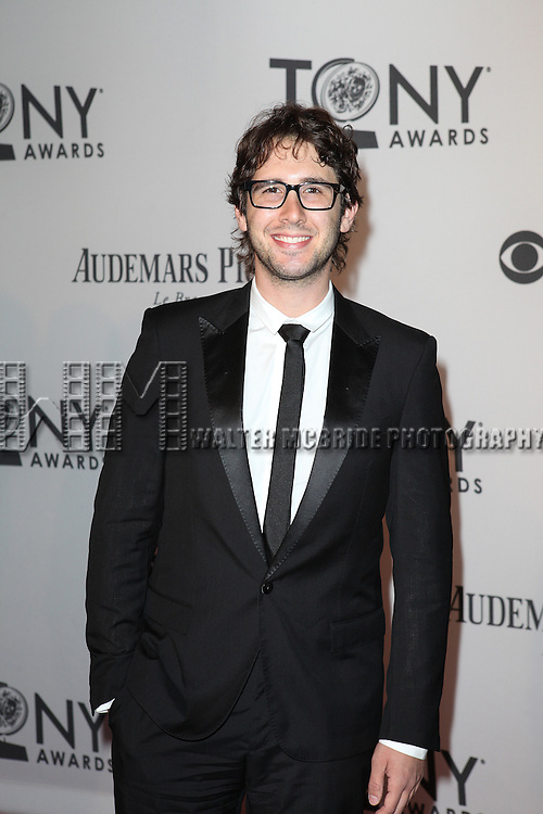 Josh Groban pictured at the 66th Annual Tony Awards held at The Beacon Theatre in New York City , New York on June 10, 2012. © Walter McBride / WM Photography