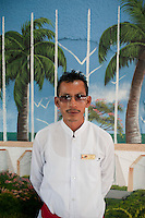 Waiter at Las Brisas restaurant in Champoton, Campeche, Mexico