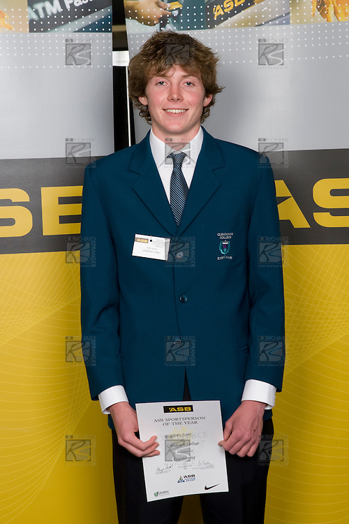 Boys Orienteering winner Toby Scott from Glendowie College. ASB College Sport Young Sportperson of the Year Awards 2008 held at Eden Park, Auckland, on Thursday November 13th, 2008.