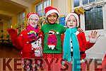 L-r  Maeve Breen, Amrisha Debnath and Jane McDonnell. ready for the Presentation Primary School Concert on Tuesday