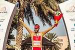 Loic Chetout (FRA) Cofidis retains the most agressive riders Gold Jersey at the end of Stage 4 of the 2018 Tour of Oman running 117.5km from Yiti (Al Sifah) to Ministry of Tourism. 16th February 2018.<br /> Picture: ASO/Muscat Municipality/Kare Dehlie Thorstad | Cyclefile<br /> <br /> <br /> All photos usage must carry mandatory copyright credit (&copy; Cyclefile | ASO/Muscat Municipality/Kare Dehlie Thorstad)