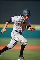 Bradenton Marauders catcher Arden Pabst (34) runs the bases during the first game of a doubleheader against the Lakeland Flying Tigers on April 11, 2018 at Publix Field at Joker Marchant Stadium in Lakeland, Florida.  Lakeland defeated Bradenton 5-4.  (Mike Janes/Four Seam Images)